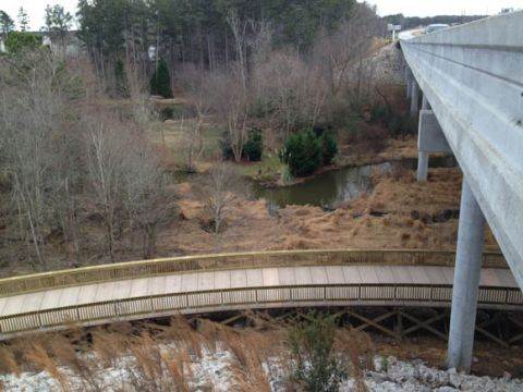 Section of Black Creek Greenway, Cary NC